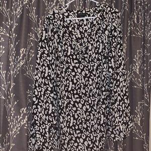B&W leopard Lane Bryant blouse